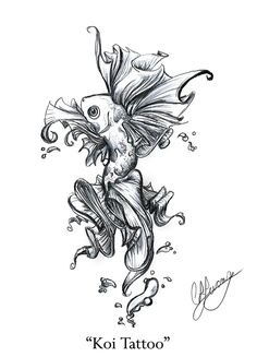 Koi Fish Tattoo Design - http://tattoosnet.com/koi-fish-tattoo-design.html