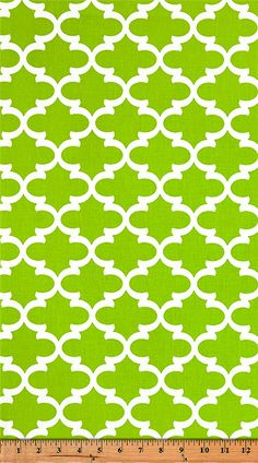 Quatrefoil Fabric Fulton Chartreuse made by Premier Prints Inc