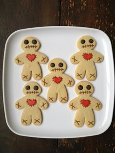halloween voodoo dolls zombie cookiesgingerbread - Halloween Gingerbread Cookies