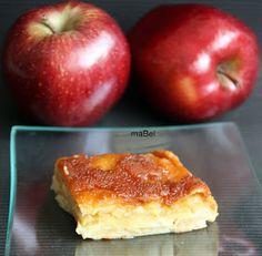 Pasteles de colores: Pastel o gateau de manzanas invisible al caramelo