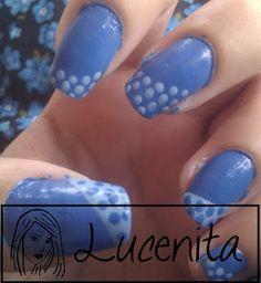 Uñas azules / blue nail art