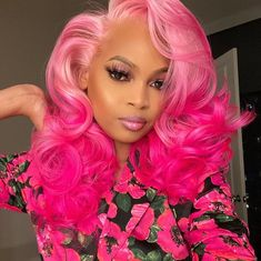 Red Wigs Lace Frontal Wigs Red Hair On Light Skin Gray Halloween Wigs – melonral Bright Red Hair Dye, Hair Colorful, Pastel Purple Hair, Pink Ombre Hair, Dyed Red Hair, Pink Wig, Hair Color Pink, Exotic Hair Color, Extreme Hair Colors