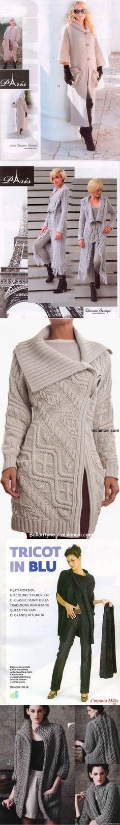 Пальто, куртки спицами 89 | Волшебный клубочек спицы | Постила