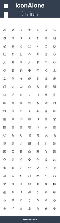 Set of high quality line icons, crafted on 24X24px grid. Icons are fully scaleable and editable