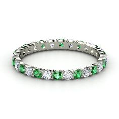 Palladium Ring with Emerald; LOVE THIS ONE!!!