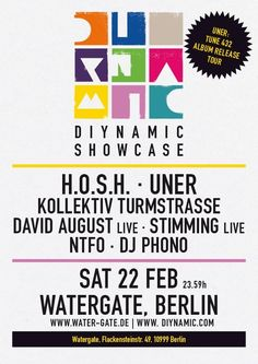 Diynamic Showcase | Watergate | Berlin | https://beatguide.me/berlin/event/watergate-diynamic-showcase-20140222