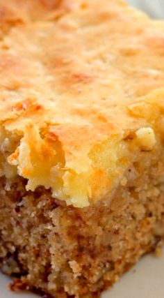 Cream Cheese Topped Apple Cake – A moist apple pecan cake that's topped with a cream cheese layer... Absolutely delicious