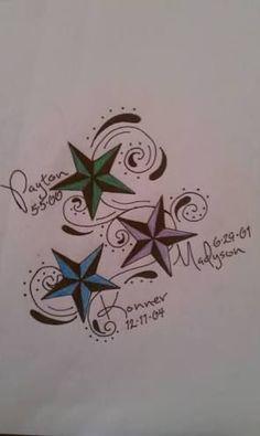 Image result for kids names tattoos for moms