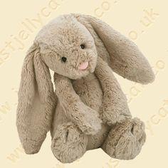 Bashful beige bunny medium - cuddly toy from Jellycat - Handpuppen Shop - Living Puppets & Folkmanis Shark Stuffed Animal, Giant Stuffed Animals, Stuffed Toys, Pet Toys, Baby Toys, Living Puppets, Orang Utan, Shark Plush, Kit Bebe