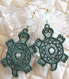 Hey, I found this really awesome Etsy listing at https://www.etsy.com/listing/88224094/turtle-earrings-lace-earrings-turtle