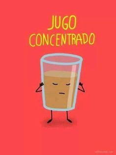 "Spanish words: word play on ""concentrado."" #Spanish jokes for kids #chistes para niños #Jokes in Spanish for kids"