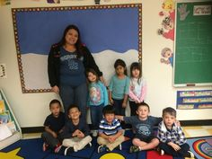 Blue day activity at First School.