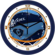 Mens Citadel Bulldogs - Slam Dunk Wall Clock