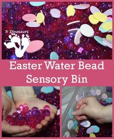 Easter Water Bead Sensory Bin - 3Dinosaurs.com