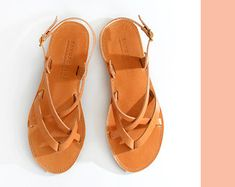 Leather Sandals Sandals Greek sandals Two strap women
