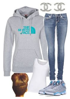 """""""Chilled"""" by slimthuggy ❤ liked on Polyvore featuring The North Face, Juvia, True Religion, NIKE and Chanel"""