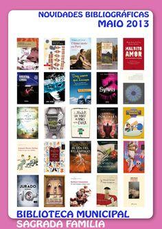 Novidades bibliográficas do mes de maio de 2013 na biblioteca municipal Sagrada Familia da Coruña