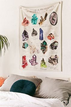 Slide View: 1: Illustrative Reference Chart Tapestry Decorative Objects, Decorative Accessories, Clothing Accessories, My New Room, Watercolor Illustration, Durga, Dorm Room, Room Inspiration, Tarot