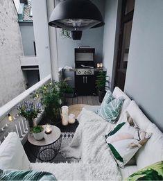 Small balcony ideas, balcony ideas apartment, cozy balcony design, outdoor balcony, balcony ideas on a budget Small Balcony Design, Small Balcony Garden, Small Balcony Decor, Small Terrace, Outdoor Balcony, Terrace Design, Balcony Grill, Small Balconies, Garden Design
