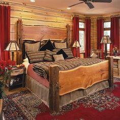 Сельский Кровать с живой краю и сарай пучков Дон McAulay