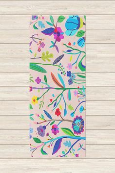 Colorful Yoga Mat - Pop Garden, Yoga Mat with Design, Printed Yoga Mat, Bright Yoga Mat, Unique Yoga Gifts, Yoga Mat Print, Yoga Accessories