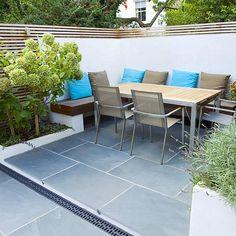 contemporary small family garden