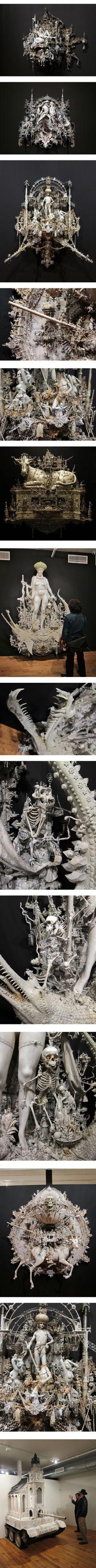 Fantasy | Whimsical | Strange | Mythical | Creative | Creatures | Dolls | Sculptures | ☥ | Kris Kuksi sculpture