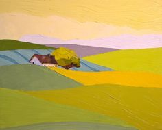 From Field to Field Landscape Painting 16x20 by DonnaWalker, $450.00