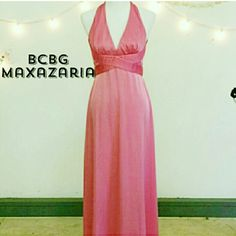 {BCBG MaxAzria} Bright Pink Formal Gown Pink Silk V-Neck Strappy Racerback Floor Length Gown. MISSES Sizing.  Size 6. WORN ONCE FOR 4 HOURS. Has Been On A Hanger In The Back Of Closet Ever Since. 2010 Prom.  ~{Will Be Taken To The Dry Cleaners Before Shipping Out!}~ *DRY CLEAN ONLY* > MEASUREMENTS   Please Ask Questions Before Purchasing .  ALL SALES ARE FINAL  ?NO TRADES ?NO PAYPAL ?NO HOLDS ?NO LOW BALL OFFERS BCBGMaxAzria Dresses
