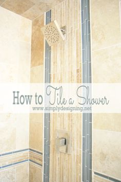 Come see how simple it is to tile a shower to create a custom and unique look in your own home while saving a lot of money by doing it yourself!
