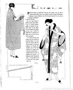 Kimono with armholes in top of sleeve.  Les Modes de la femme de France  1920/09/05 (A6,N278).