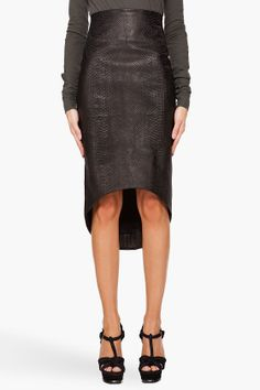 MANDY COON   Leather Skirt