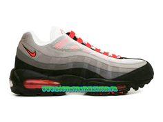 Nike Air Max 95 - Chaussures Nike Pas Cher Pour Homme Blanc/Gris neutre/Bleu-gris/Rouge Solaire 609048-106