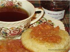 Philadelphia Tea Society:  tea, crumpets, wild violet jelly