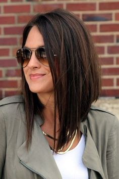 30 Beautiful Hairstyles For Shoulder Length Hair – Hair Styles Bob Haircuts For Women, Long Bob Haircuts, Hairstyles Haircuts, Wedding Hairstyles, Trendy Hairstyles, Popular Haircuts, Layered Haircuts, Inverted Bob Hairstyles, Pixie Haircuts