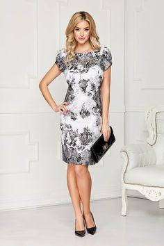 Rochii office de vară la modă în 2020 - Rochii office în vogă vara acesta Short Sleeve Dresses, Dresses With Sleeves, Formal Dresses, Casual, Bb, Fashion, Dresses For Formal, Moda, Sleeve Dresses