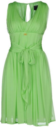 Short Dress - Lyst. this green. that bow