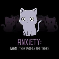 Anxiety: Other People - This t-shirt is only available at TeeTurtle! Exclusive graphic designs on super soft 100% cotton tees.