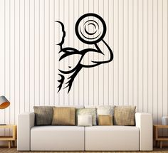 Vinyl Wall Stickers Gym Sports Art Bodybuilding Fitness Decal Mural (229ig)