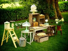 Wedding Styling Inspiration:  Outdoor Vintage Green...