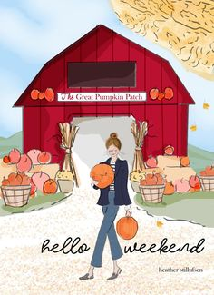 Rose Hill Designs © by Heather Stillufsen Bon Weekend, Hello Weekend, Happy Weekend, Weekend Vibes, The Great Pumpkin Patch, Happy Fall Y'all, Autumn Art, Hello Autumn, Fall Cards