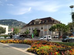 "See 90 photos and 5 tips from 2084 visitors to Gare de Vevey. ""If I were to recommend only one town to visit in Switzerland, I would definitely say Vevey. Vevey, Lausanne, Switzerland, Travel Destinations, Beautiful Places, Mansions, House Styles, Lets Go, Road Trip Destinations"