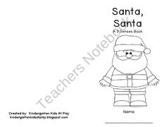 Santa, Santa A 5 Senses Book about Christmas product from Kindergarten-Kids-At-Play on TeachersNotebook.com