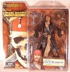 """Neca - Piratas del Caribe """"La maldición de la perla negra"""" Serie 1 - Capt. Jack Sparrow"""