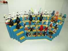 Star Wars Lego Minifigure Tabletop Display shelf