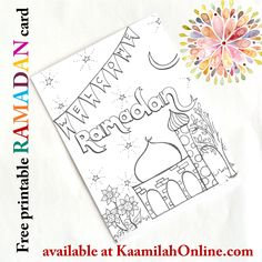 FREE Ramadan Coloring Card for Kids from Kaamilah Online