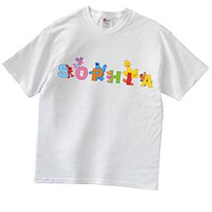 Sesame Street Characters Name T-Shirt