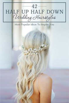 42 Stunning Half Up Half Down Wedding Hairstyles ❤ These elegant curly half up/half down hairstyles look amazing with hair accessories or on their own. See more: http://www.weddingforward.com/half-up-half-down-wedding-hairstyles-ideas/ #wedding #hairstyles #halfuphalfdownweddinghairstyles