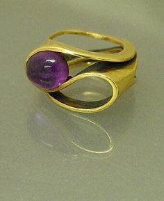 Art Smith Gold Ring with Amethyst - Stylehive