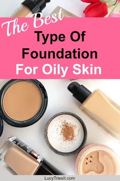 """If there is no oil on the cheek locations, however oil is present on the nose and forehead (the T-section) then your skin type is a combination of both regular and oily. Combination skin types are more typical and are characterized by the """"T"""" zone. Types Of Foundation, Foundation For Oily Skin, Moisturizer For Oily Skin, How To Apply Foundation, Oily Skin Care, Skin Care Tips, Dry Skin, Makeup Foundation, Makeup Tips For Oily Skin"""